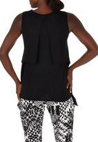 edit Maternity - Vest with Overlay Black