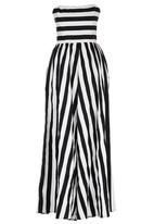 ELIGERE - Strapless Gown Black and White