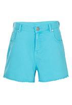 Precioux - Raw Hem Shorts Turquoise