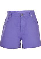 Precioux - Raw Hem Shorts Mid Purple