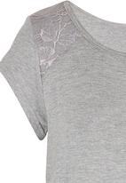 Precioux - Lace Detail Top Grey