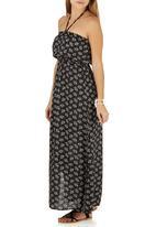 c(inch) - Boho Maxi Dress Black