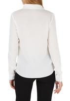 G Couture - Lace Inset Shirt Milk