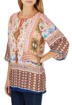G Couture - Printed Kaftan Top Orange