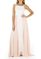 ELIGERE - Chiffon Maxi Gown Neutral