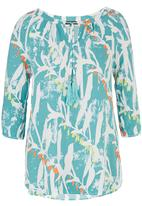 G Couture - Printed Tunic Top Light Green