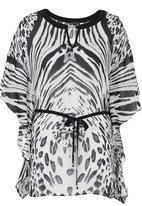 G Couture - Animal Kaftan Black