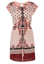 G Couture - Paisley Printed Tunic Dress Red