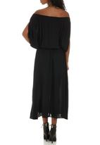 Bukamina - Boho Maxi Dress Black