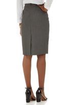 edit - Suit Skirt Mid Grey