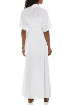 Isabel de Villiers - Maxi Shirt Dress White