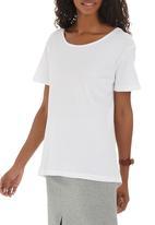 Paige Smith - Long Back T-shirt White