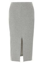 Paige Smith - Slit Skirt Mid Grey