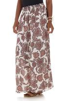 edit - Printed Smocked Maxi Skirt Multi-colour