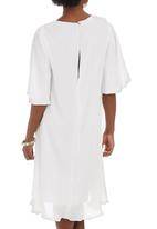 RUFF TUNG - Pleat Dress White