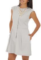 adam&eve; - Lisha Dress Pale Grey