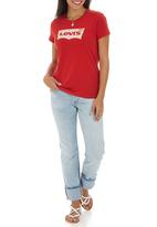 Levi's® - Classic Batwing Logo Print Tee Red