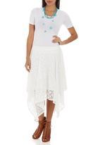 STYLE REPUBLIC - Hanky Hem skirt White