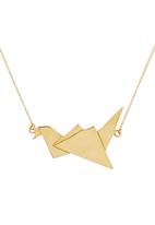 STYLE REPUBLIC - Flying Bird Necklace Gold