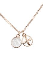 Fossil Jewellery - Necklace with Pendant Rose gold
