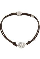Fossil Jewellery - Rope Bracelet with Beads Black