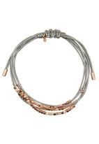 Fossil Jewellery - Rope Bracelet with Beads Grey