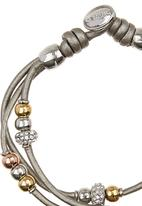 Fossil Jewellery - Rope Bracelet with Beads Silver
