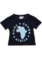 Home Grown Africa - Africa Tshirt Navy