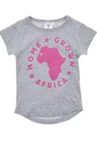 Home Grown Africa - Africa Tshirt Grey