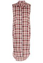 c(inch) - Long Length Shirt Red