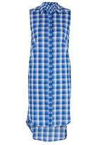 c(inch) - Long Length Shirt Mid Blue