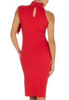 Gert-Johan Coetzee - High Neck Cascade Dress Red