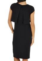 edit - Double Layer Bodycon Dress Black