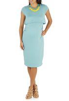 edit Maternity - Double Layer Bodycon Dress Light Green