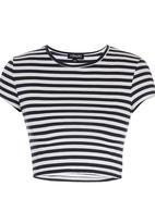 c(inch) - Crop T-shirt Navy