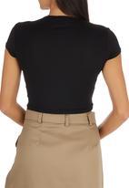 c(inch) - Crop T-shirt Black