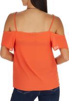 STYLE REPUBLIC - Cold Shoulder Cami Orange