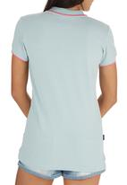 Tokyo Laundry - Harley Collared Top Turquoise