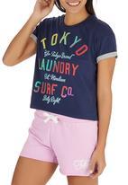 Tokyo Laundry - Erica Rolled Sleeve T-shirt Dark Blue
