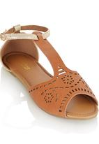 That's it - Boho Open Toe Sandals Camel/Tan