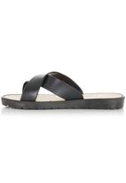 That's it - Crossover Slip On Sandals Black
