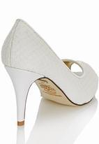 Sam Star - Leather Peep Toe Heels White