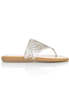 Zoom - Cut Out Sandals Silver