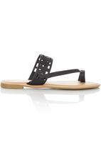 Zoom - Cut Out Sandals Black