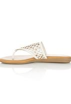 Zoom - Cut Out Sandals White