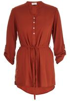 edit - Longer Length Shirt Mid Brown