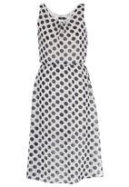 STYLE REPUBLIC - Polka Dot Blouson Dress Blue and White