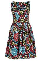 STYLE REPUBLIC - African Printed Midi Dress Multi-colour