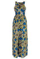 STYLE REPUBLIC - African Print Maxi Dress Multi-colour