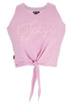 Tokyo Laundry - Brooke Tie up Tank Pale Pink
